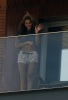 Beyonce Knowles spotted on the balcony of her hotel room on February 8th 2010 while in Rio de Janeiro Brazil 2