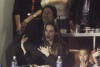 Brad Pitt and Angelina Jolie spotted watching the Super Bowl XLIV at the Sun Life Stadium on February 7th 2010 in Miami Gardens Florida 2