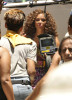 Alicia Keys seen at Conceicao Santa Marta slum while filming the new musical video on February 12th 2010 in Rio de Janeiro 2