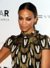 Zoe Saldana attends the amfAR New York Gala during the Fall 2010 Fashion Week at Cipriani 42nd Street on February 10th 2010 in New York City 2