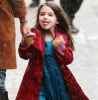 Suri Cruise seen enjoying the snow as she walks with her mom on February 10th 2010 in New York City 2