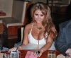 Aubrey ODay celebrates her birthday by having dinner with friends on February 13th 2010 at Stack restaurant in the Mirage Hotel 1