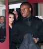 Kim Kardashian and Reggie Bush arrive together to have dinner at the Normas on February 12th 2010 at Le Parker Meridien Hotel in New York City 2