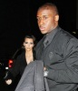 Kim Kardashian and Reggie Bush arrive together to have dinner at the Normas on February 12th 2010 at Le Parker Meridien Hotel in New York City 1