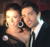 Lara Scandar and Mohammad Bash at the private party held for the launch of Mission is You on February 4th 2010 in Cairo Egypt 7