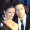 Lara Scandar and Mohammad Bash at the private party held for the launch of Mission is You on February 4th 2010 in Cairo Egypt 6