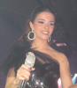 Lara Scandar photo wearing a glam black dress at her private party celebrating the release of her first CD on February 4th 2010 in Cairo Egypt 5