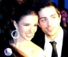 Lara Scandar and Mohammad Bash at the private party held for the launch of Mission is You on February 4th 2010 in Cairo Egypt 1