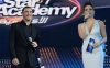 Star Academy season seven first prime picture of Kathem Saher together with Hilda Khalifa on stage