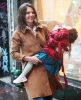 Katie Holmes and her daughter Suri as they were leaving their home on February 11th 2010 in New York City 1