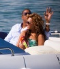 Beyonce and JayZ while at the luxururious yacht on February 20th 2010 in Miami Florida 1