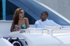 Beyonce and JayZ while at the luxururious yacht on February 20th 2010 in Miami Florida 6