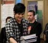 Adam Lambert picture on February 18th 2010 while with a group of kids in Los Angeles 1