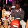 Kim Kardashian with her boyfriend Reggie Bush at The Queen Of Hearts Ball held on February 13th 2010 at LAVO in Las Vegas 1