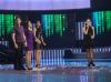 picture of the second prime of Star Academy 7 on February 26th 2010 while the three nominees Salwa Jack and Aline stand at the middle of the stage for the voting results to be announced by Hilda Khalife