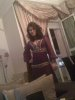 Tunisian student Asmae Mahalaoui of the seventh season photo before star academy wearing a purple traditional dress