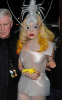 Lady GaGa spotted wearing a silver lobster hat while arriving at Mr Chow restaurant on February 27th 2010 in London England 2