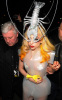 Lady GaGa spotted wearing a silver lobster hat while arriving at Mr Chow restaurant on February 27th 2010 in London England 4
