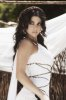 Haifa Wehbe picture in February 2010 for the Enta Tani video clip in a white dress