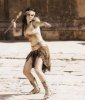 Haifa Wehbe picture in February 2010 for the Enta Tani video clip in a roman style clothes