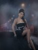 Haifa Wehbe picture in February 2010 for the Enta Tani video clip in a black dress