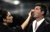 Mezhgan Hussainy picture with Simon Cowell as the makeup artist of American Idol