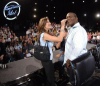 Mezhgan Hussainy picture with Randy Jackson as the makeup artist of American Idol