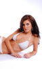 Audrina Patridge photo shoot for the April 2010 issue of FHM Magazine wearing a two pieces white bikini swim suit 5