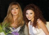 Lebanese singer Miriam Fares personal picture with her mother Seham
