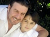 Syrian actor Wael Ramadan with his son
