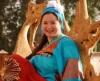 May Noor Al Sharif wearing tranditional galabeya