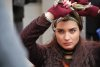 turkish model and actress Tuba Buyukustun on the set of a new turkish darama series of the name of Gonulcelen 26