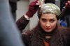 turkish model and actress Tuba Buyukustun on the set of a new turkish darama series of the name of Gonulcelen 25