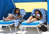Kim Kardashian and Kourtney Kardashian spotted on March 30th 2010 as they film some scenes for their show Keeping Up with the Kardashians in bikinis on the beach 5