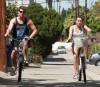 Miley Cyrus spotted with her boyfriend Liam Hemsworth riding their bikes to a 7 11 store on March 26th 2010 in Toluca 3