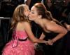 Noah Cyrus and her sister Miley Cyrus at The Last Song premiere held on March 25th 2010 at ArcLight Hollywood in Los Angeles 3