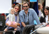 Alessandra Ambrosio seen with Jamie Mazur  and their daughter Anja Louise on April 4th 2010 as they spend Easter at the Sunday Farmers Market on Main Street 1