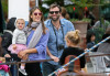 Alessandra Ambrosio seen with Jamie Mazur  and their daughter Anja Louise on April 4th 2010 as they spend Easter at the Sunday Farmers Market on Main Street 4