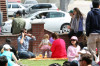 Alessandra Ambrosio seen with Jamie Mazur  and their daughter Anja Louise on April 4th 2010 as they spend Easter at the Sunday Farmers Market on Main Street 5
