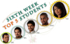 sixth week top five students with Badreya Al sayed as the top one this week