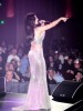 haifa Wehbe concert picture wearing a glam silver dress on March 6th 2010 at Paris Hotel in Las Vegas 7