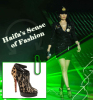 haifa Wehbe fashion diva photo while on stage singing at star academy seven prime wearing a glittery black skirt and jacket
