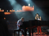 picture on April 9th 2010 from the 8th prime of Star Academy seven of Rahma Reyadh from Iraq singing with the piano along with Mr Michel Fadel playing the instrument live on stage