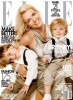 Britney Spears with her her boys with on the cover of Elle magazine of January 2010 issue