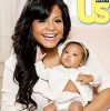 Christina Milian with her new born baby Violet on the cover of US Magazine