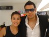 Tahra Hmamich from Morocco with a friend at the airport before joining star academy