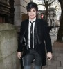 Adam Lambert spotted on March 26th 2010 as walks through an alley in London 1
