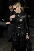 Madonna seen with Jesus Luz on March 31st 2010 as they have a private dinner together in Chelsea London 3