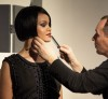 Rihanna behind the scenes of a photo shoot held at the New York City Lux Studio for Allure Magazine 2