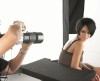 Rihanna behind the scenes of a photo shoot held at the New York City Lux Studio for Allure Magazine 1